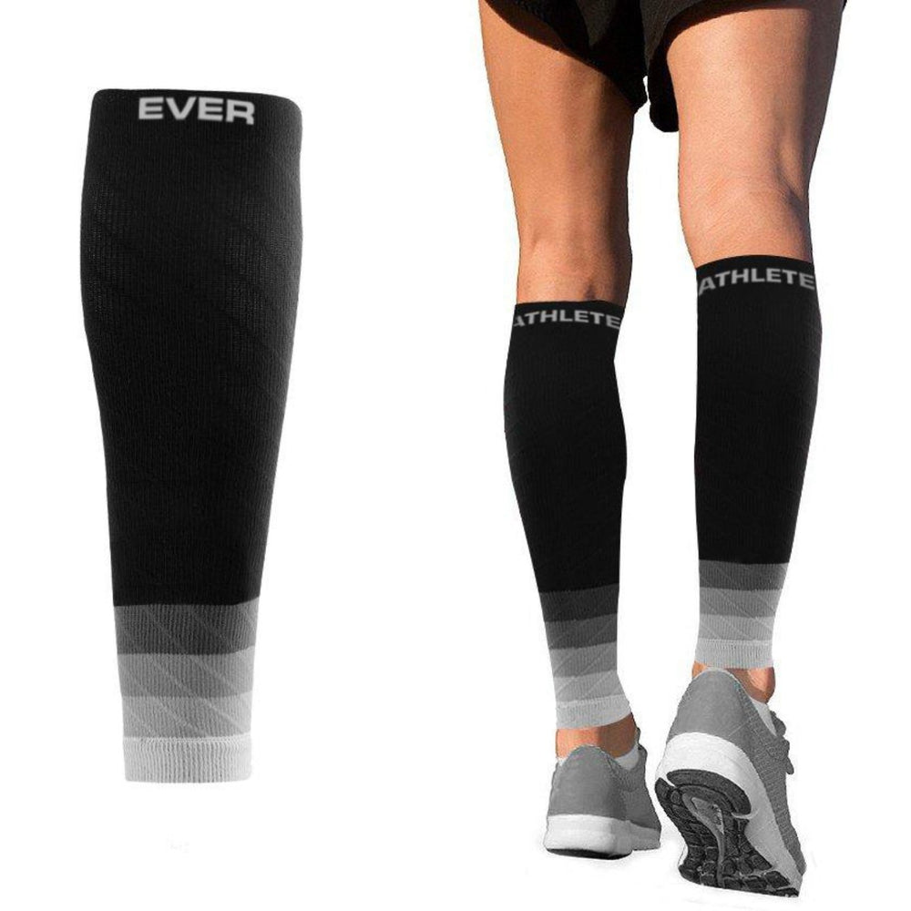 Ombré Compression Calf Sleeves   Black/Grey