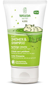 Weleda Kids 2in1 Shower & Shampoo Citron vert pétillant 150 ml