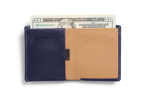 Note Sleeve Wallet - Navy - Modern & Dandy
