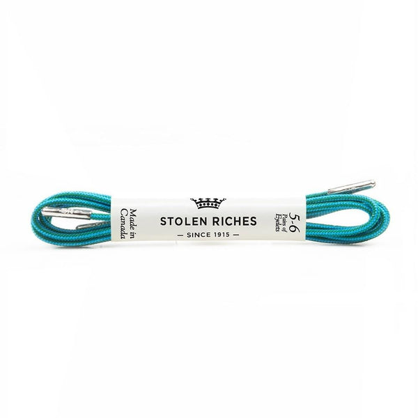 Dress Shoelaces - Lagoon Stripe - Modern & Dandy