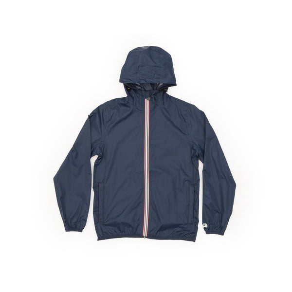Max - Navy Full Zip Packable Rain Jacket - Modern & Dandy