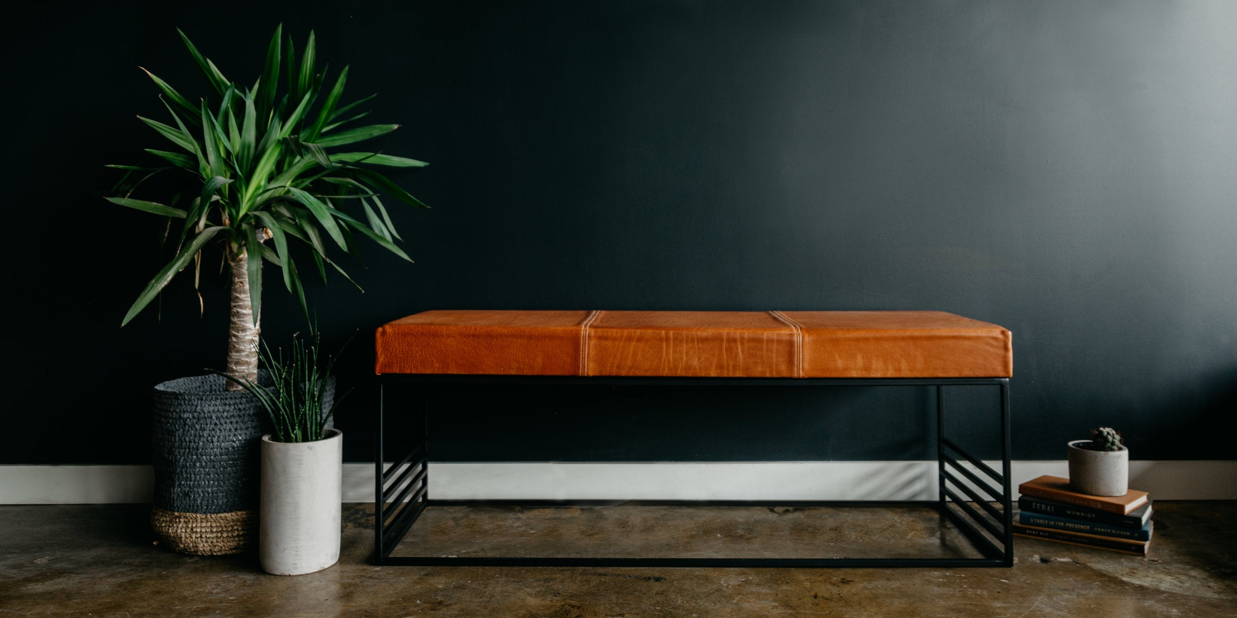 A Custom Leather Bench for KT in Collaboration With Lockeland Leatherworks