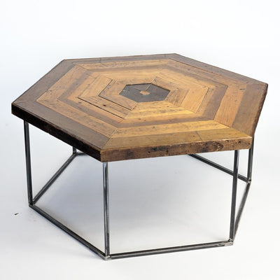 Hexagon Floor Board Coffee Table