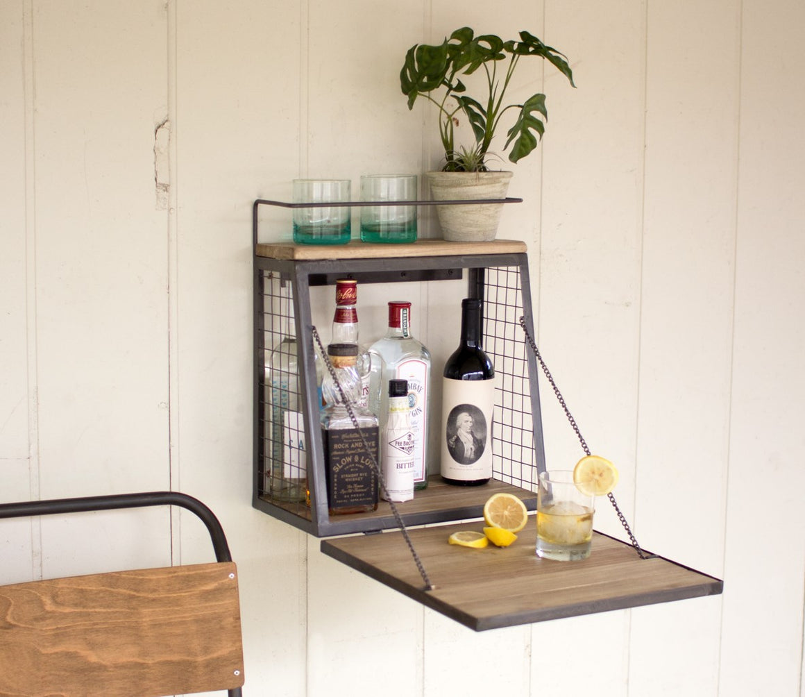 Wall Cabinet with fold down shelf