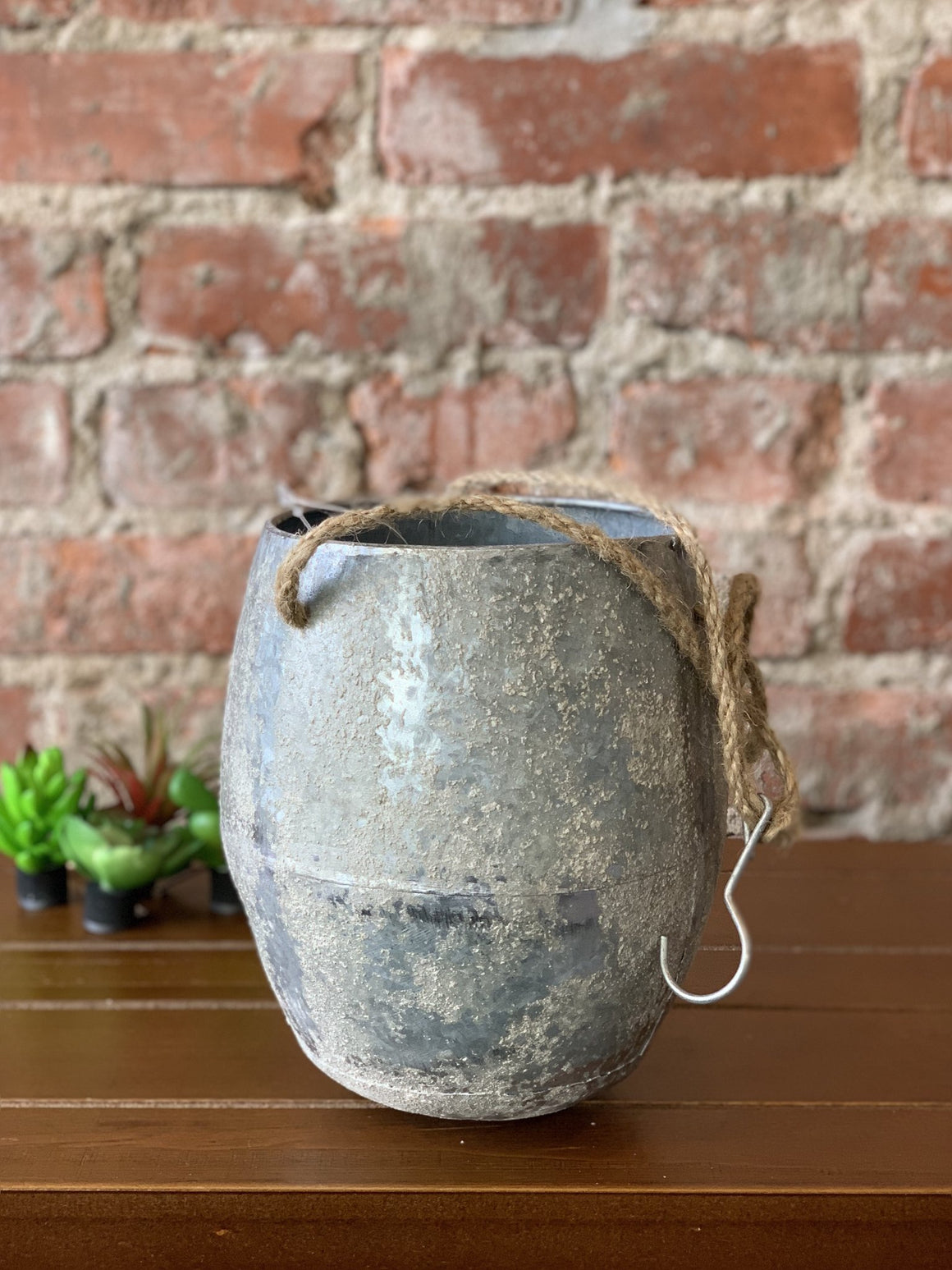 Hanging Tin Planter