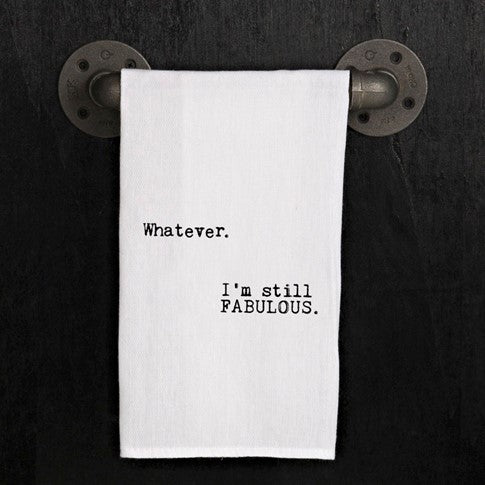 Quirky Kitchen Towel, Whatever