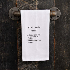 Quirky Kitchen Towel-Diet Soda