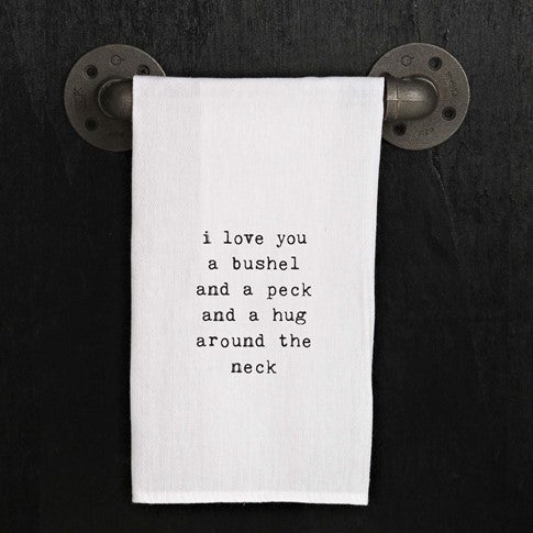 Quirky Kitchen Towel-Bushel and a Peck