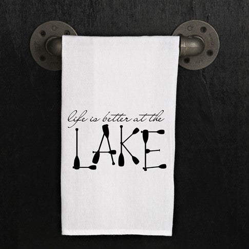Quirky Kitchen Towel, Lake
