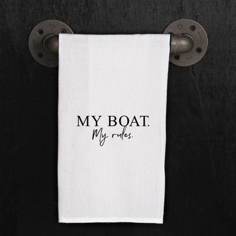 Quirky Kitchen Towel, My Boat