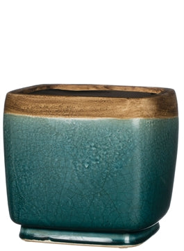 Aqua & Sand Colored Pottery