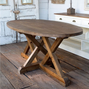 Oblong Trestle Dining Table