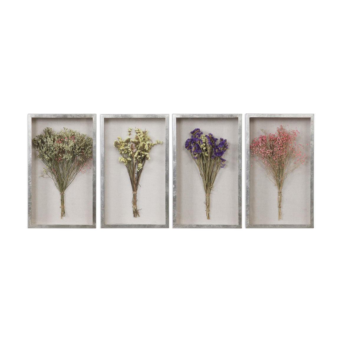 Floral Shadow Box, Set of 4