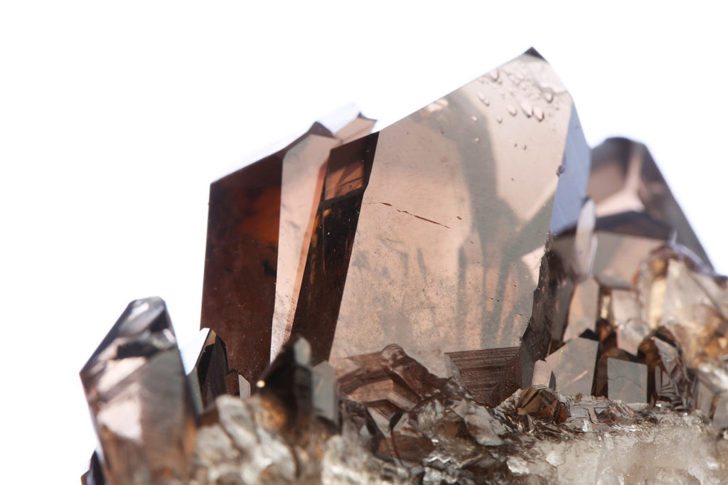 Quartz crystals in bronze.