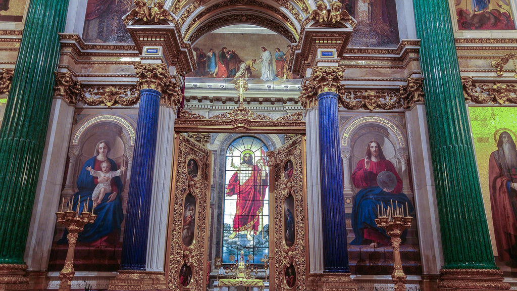 St. Isaac's Altar in St. Petersburg.