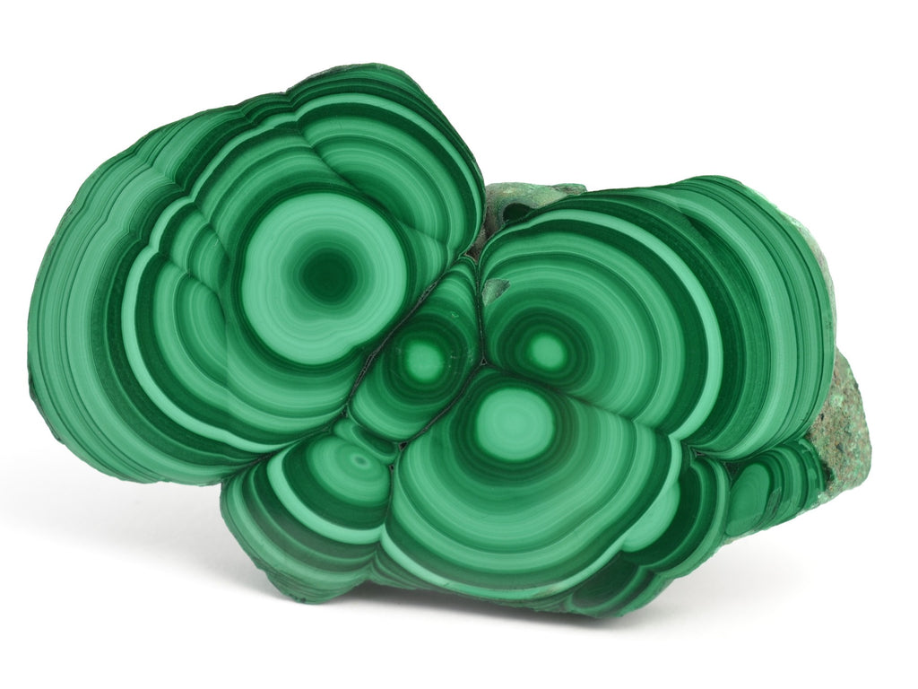 Malachite cuts in half.