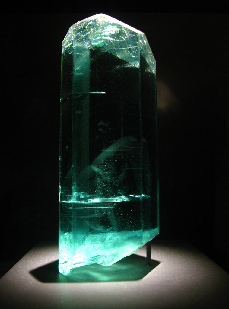 Aquamarine in spotlight.