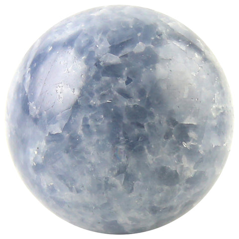 "4"" Blue Calcite Crystal Sphere from Madagascar"