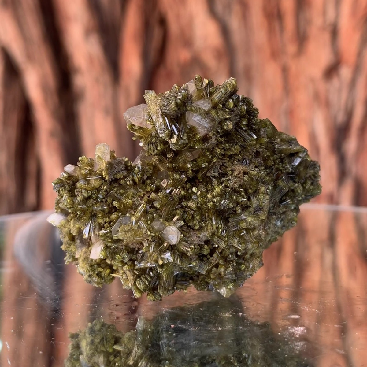 5cm 42g Epidote & Clear Quartz from Morocco