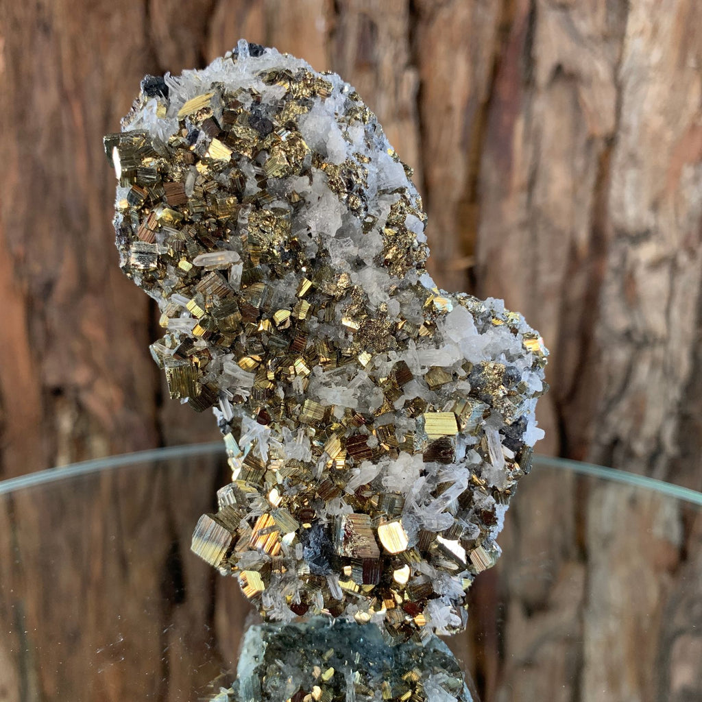 9cm 224g Pyrite, Clear Quartz, Sphalerite from Huaron, Peru