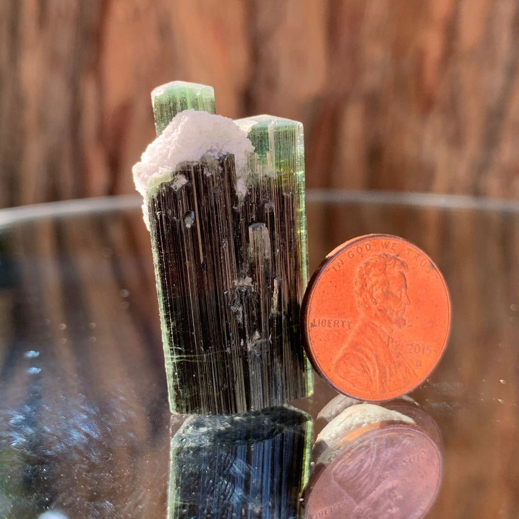 3.6cm 15g Green Cap Tourmaline with Albite from Stak Nala, Skardu, Pakistan