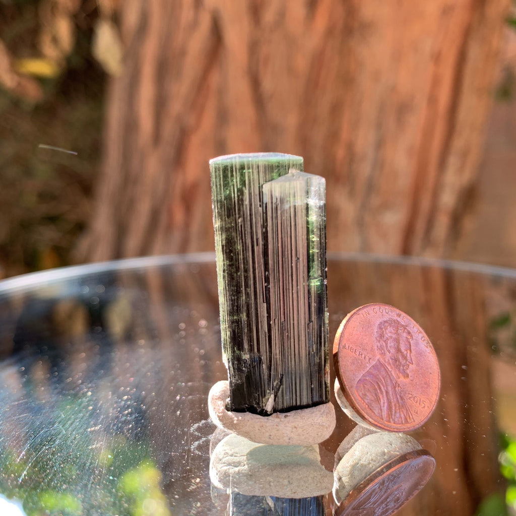 3.6cm 13g Green Cap Tourmaline from Stak Nala, Skardu, Pakistan