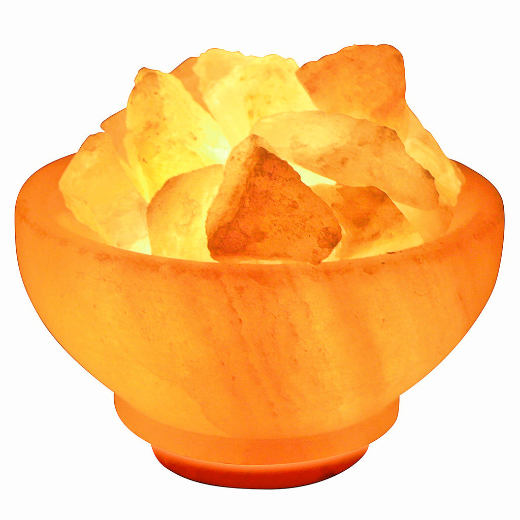"6"" Himalayan Salt Lamp From Pakistan - Fire Bowl"