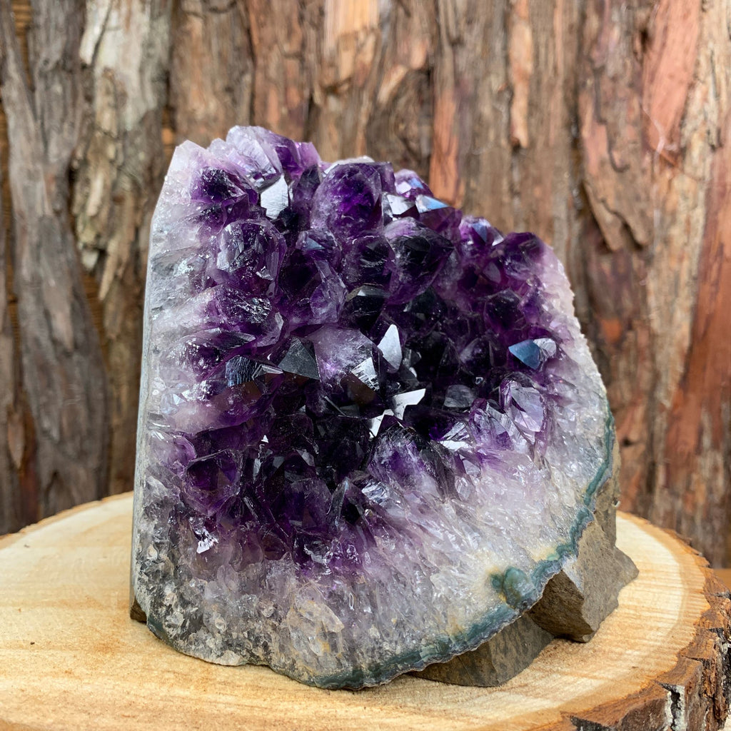 15cm 2.91kg Amethyst Crystal Cluster in Geode from Uruguay