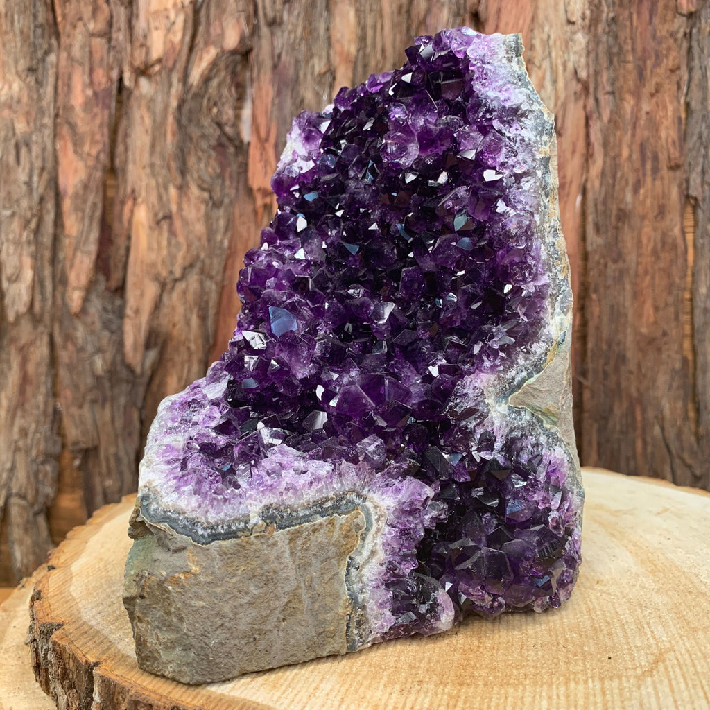 16.5cm 2.24kg Amethyst Crystal Cluster in Geode from Uruguay