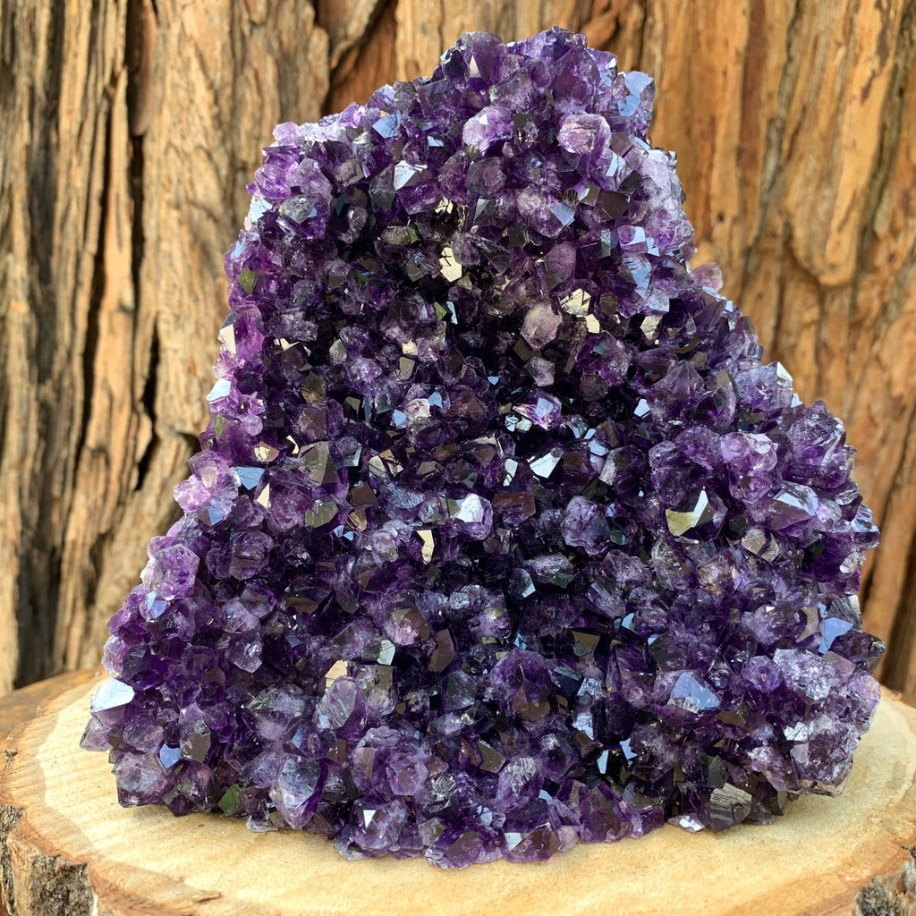 15.6cm 2.29kg  Amethyst Crystal Cluster in Geode from Uruguay
