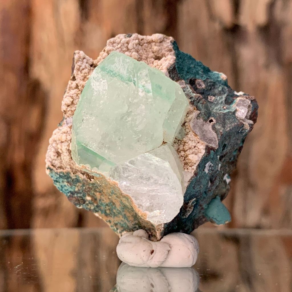 5.0cm 44g Green Apophyllite Crystal Cluster from India