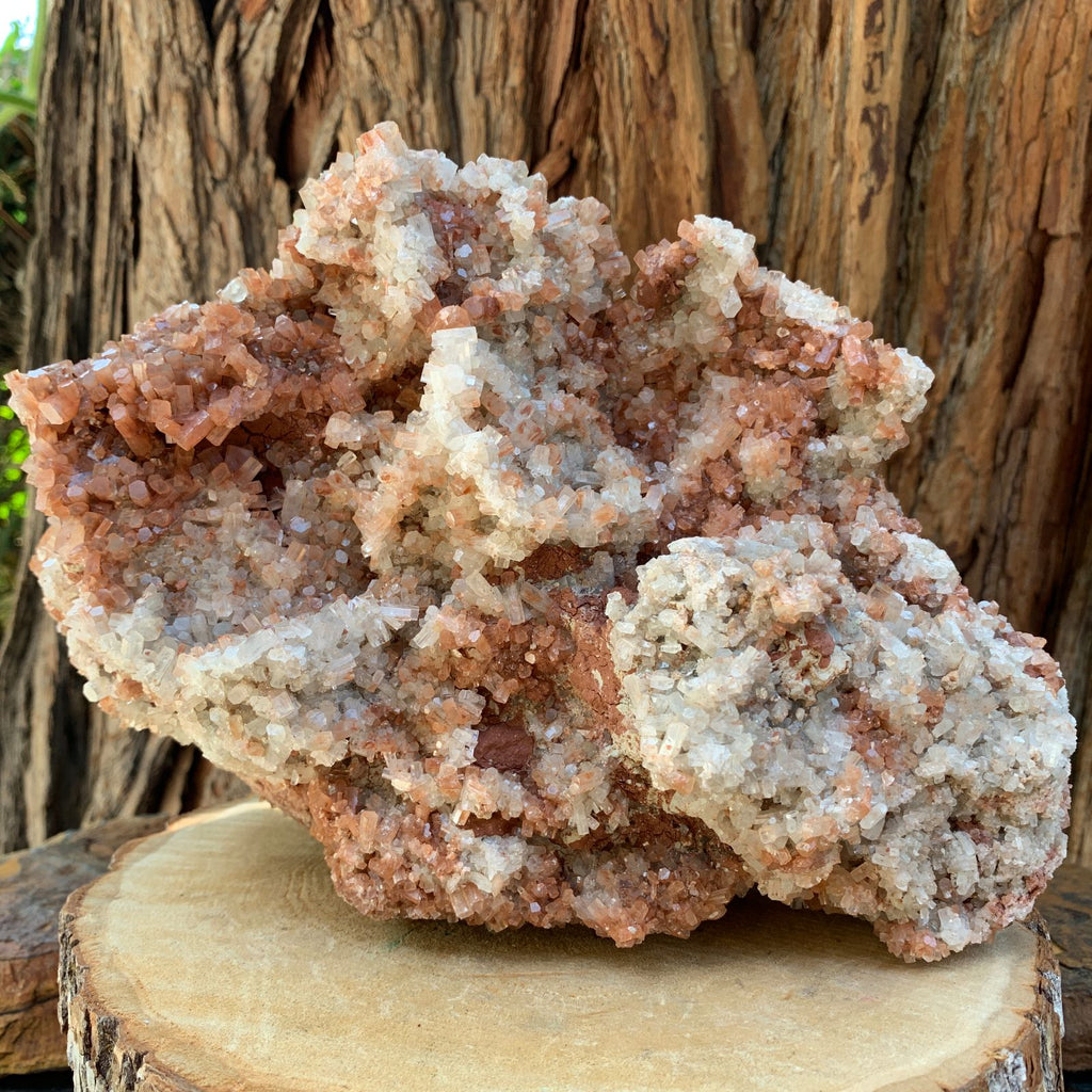 22.5cm 4.29kg White Pink Aragonite from Morocco