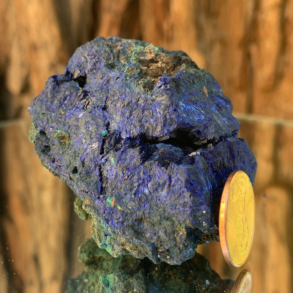 5.5cm 114g Azurite & Malachite Crystal Mineral Specimen from Anhui, China