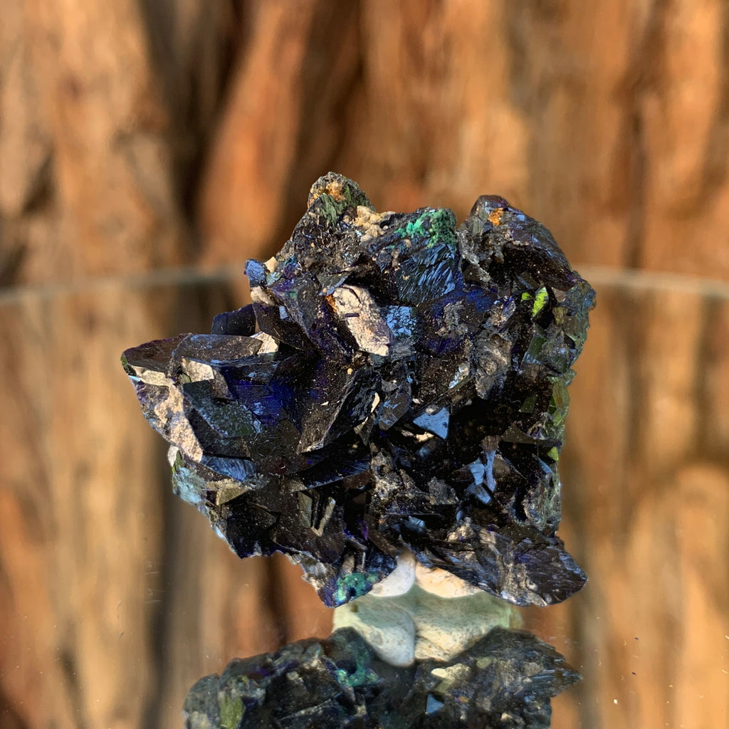 28g 4cm Azurite Crystal Mineral Specimen from Bou Beker, Morocco