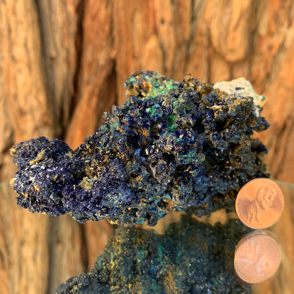 11cm 318g Azurite, Malachite Crystal Mineral Specimen from Bou Beker, Morocco