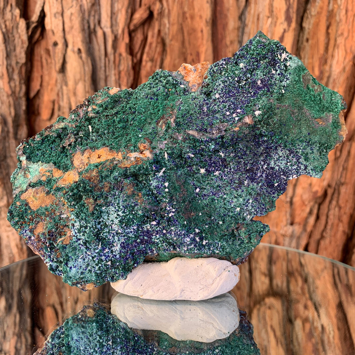 15.7cm 330g Azurite, Brochantite, Malachite, Quartz from Bou Beker, Morocco