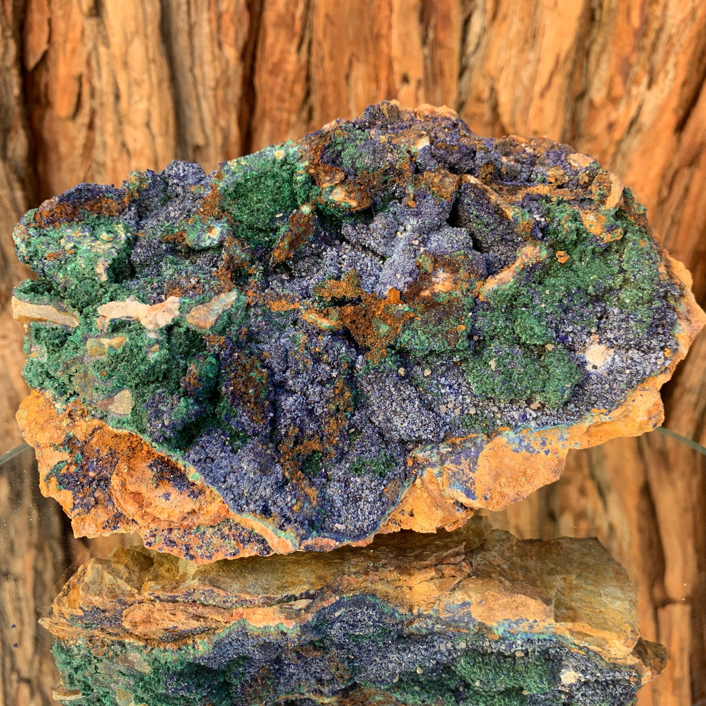 16cm 732g Azurite, Malachite Crystal Mineral Specimen from Bou Beker, Morocco