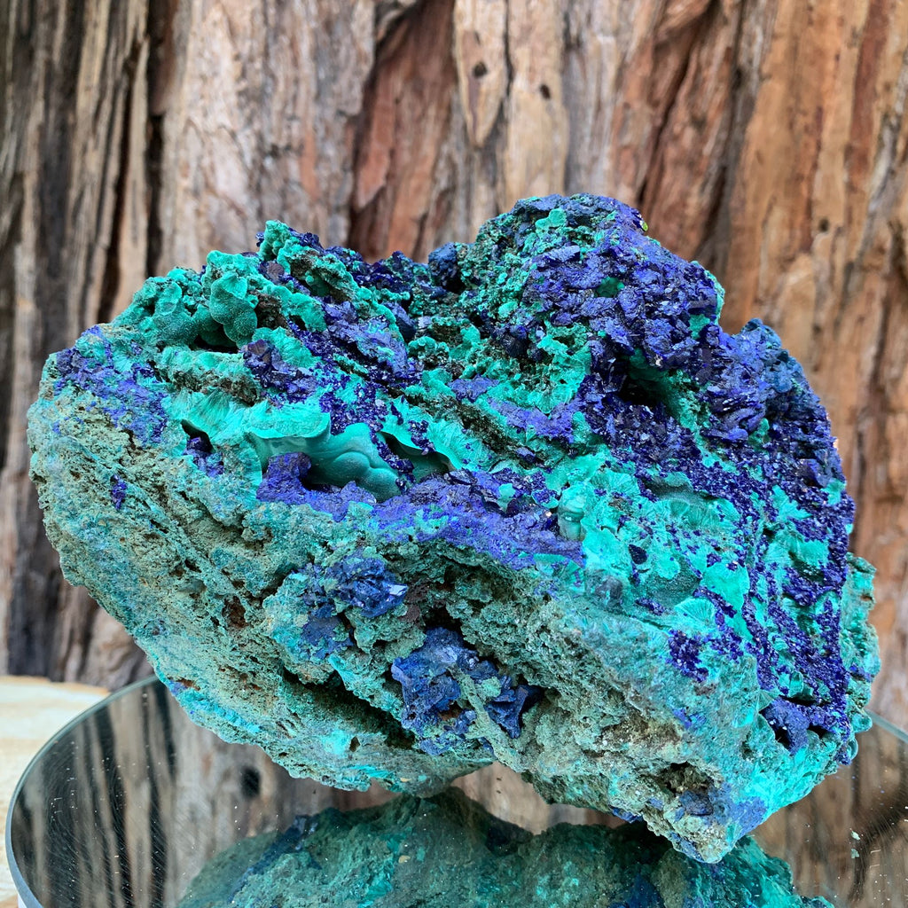 15.6cm 1.9kg Azurite, Malachite Crystal Mineral Specimen from Anhui, China