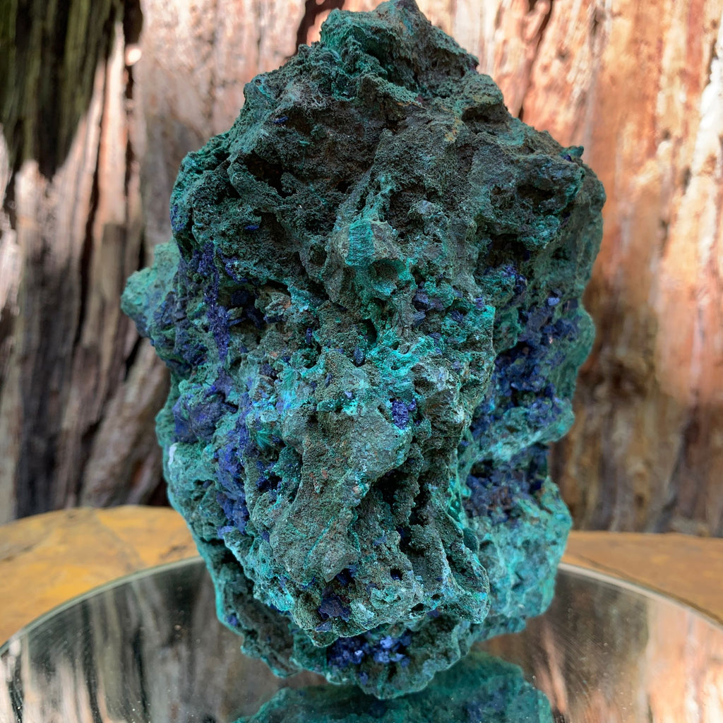 15.4cm 1.61kg Azurite, Malachite Crystal Mineral Specimen from Anhui, China