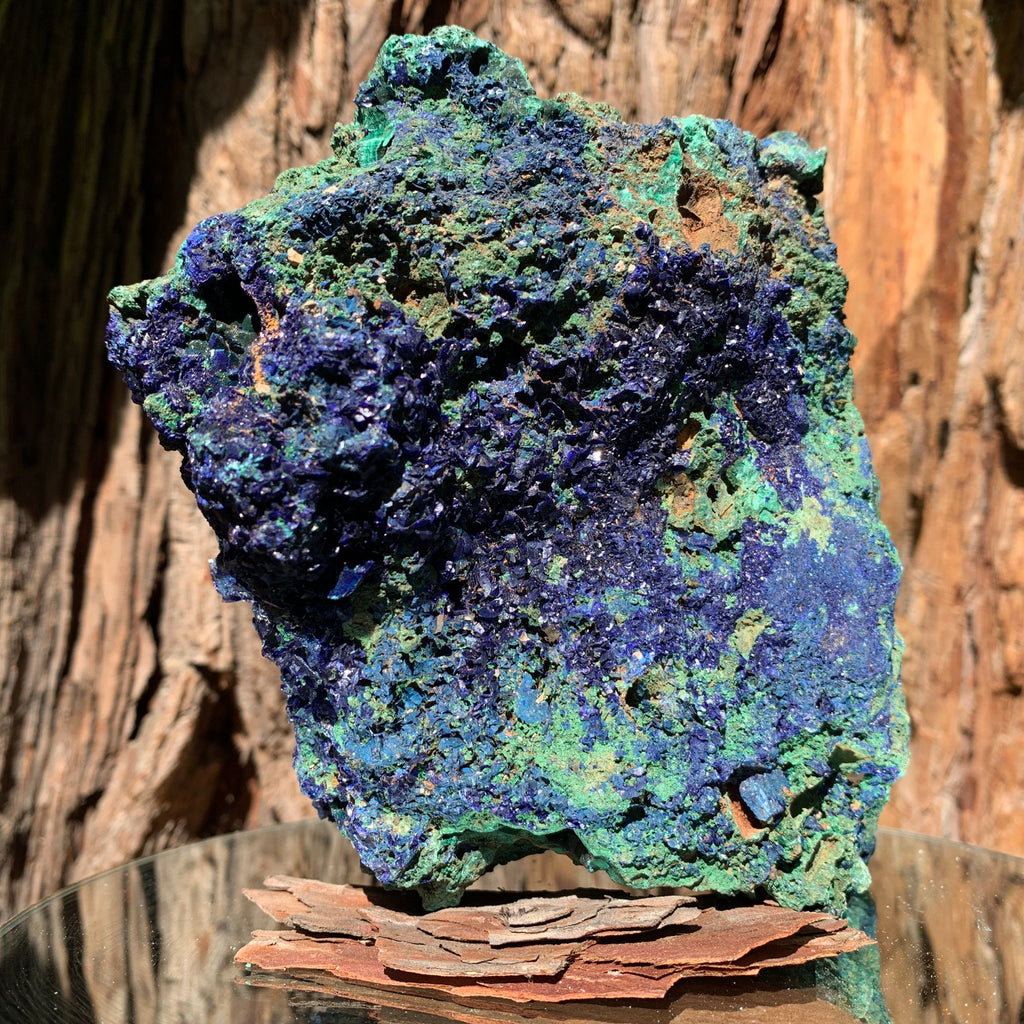 15.6cm 2.29kg Azurite, Malachite Crystal Mineral Specimen from Anhui, China