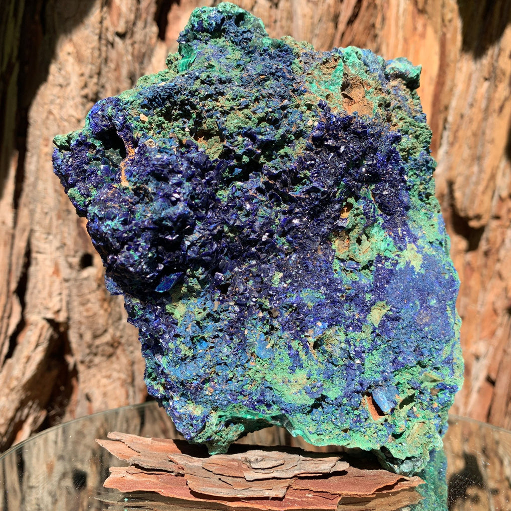 15.6cm 2.29kg Azurite and Malachite from Anhui, China