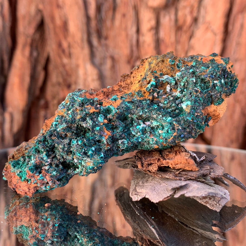 9.5cm 92g Brochantite from Bou Beker, Morocco