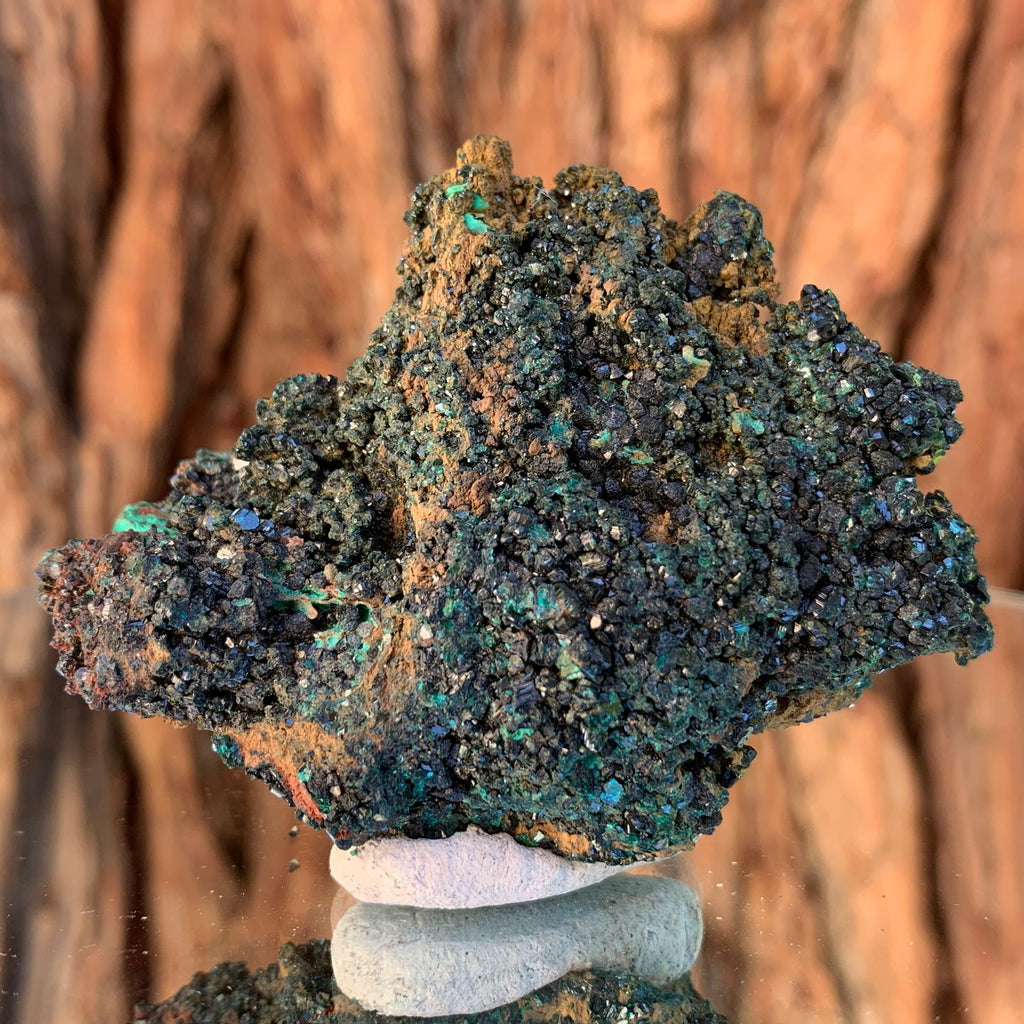5.5cm 106g Brochantite and Rosasite from Bou Beker, Morocco