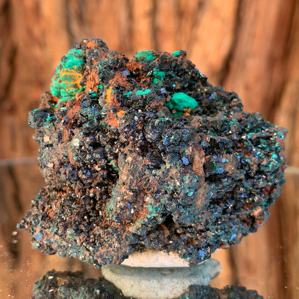 6cm 102g Brochantite and Rosasite Crystal Cluster from Bou Beker, Morocco
