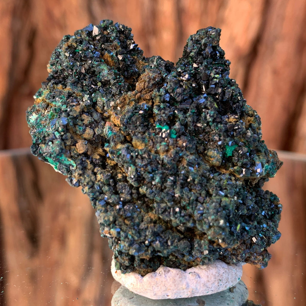 6cm 50g Brochantite and Rosasite from Bou Beker, Morocco