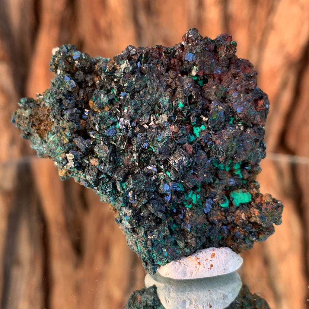 5.2cm 56g Brochantite and Rosasite from Bou Beker, Morocco