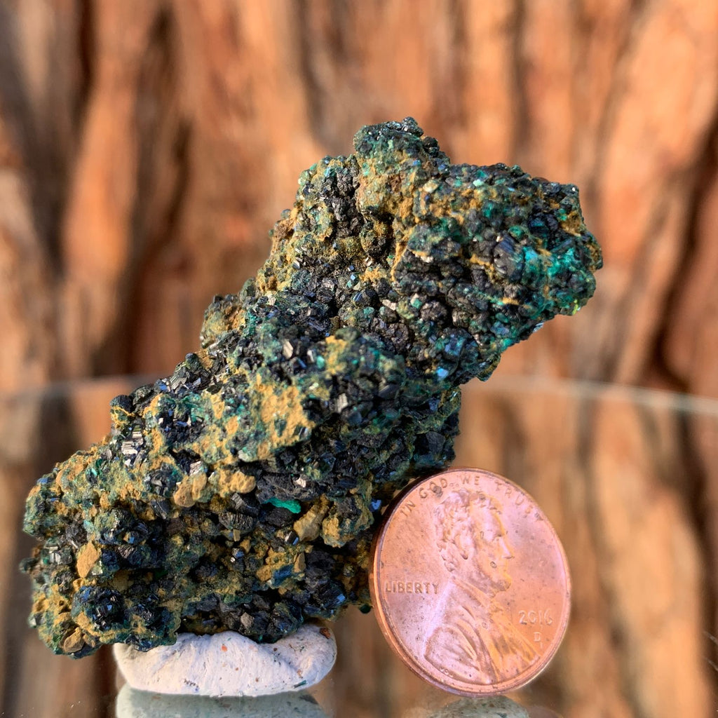 5.7cm 40g Brochantite and Rosasite from Bou Beker, Morocco