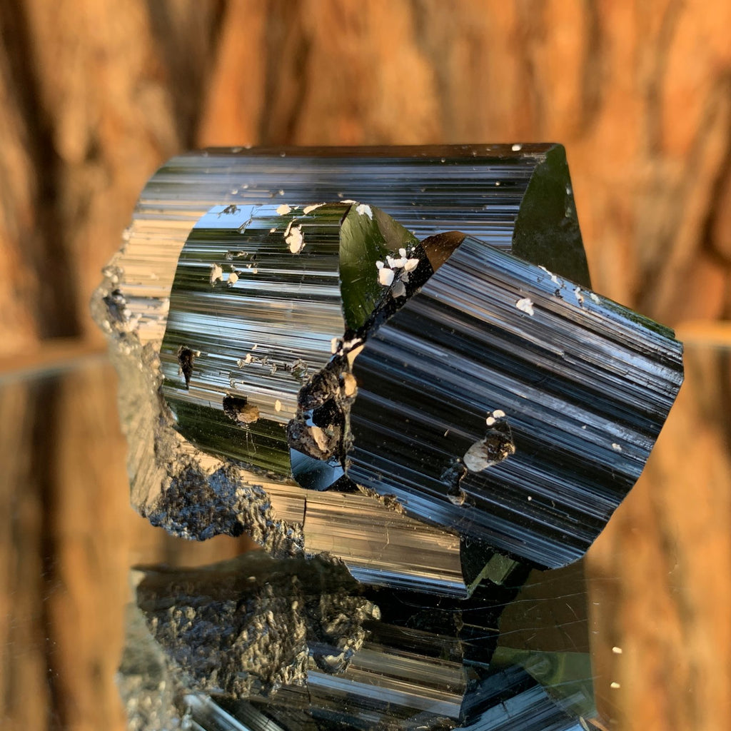 3.2cm 142g Black Tourmaline Crystal Cluster from Skardu, Pakistan