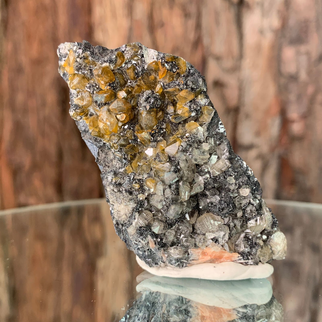 7cm 98g Cerussite on Galena from Mibladen, Morocco