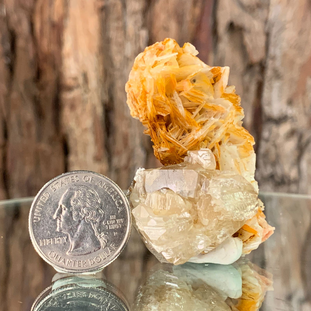 5.5cm 84g Cerussite on Barite from Mibladen, Morocco